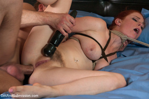 Chick enslaved and roped sucks cock befo - XXX Dessert - Picture 13