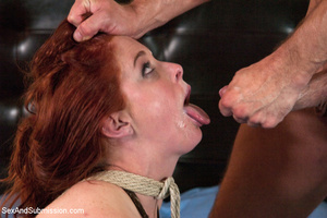 Chick enslaved and roped sucks cock befo - XXX Dessert - Picture 14