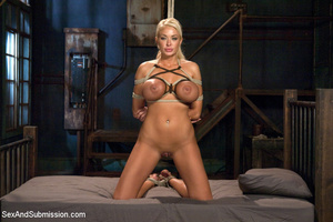 Hot blonde with big tits tied down to su - XXX Dessert - Picture 10
