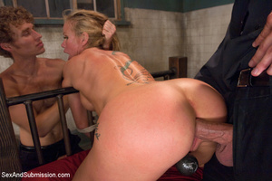 Hot tits blonde tied to bed and sucks tw - XXX Dessert - Picture 8