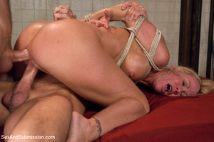 Hot tits blonde tied to bed and sucks tw - XXX Dessert - Picture 13