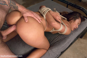 Bad student gets punished, striped, rope - XXX Dessert - Picture 13