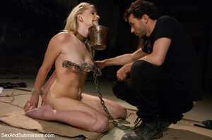 Sweet blonde roped, clipped and enslaved - XXX Dessert - Picture 2