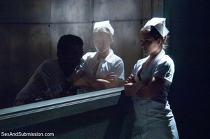 Bad lusty nurse with hairy cunt strips n - XXX Dessert - Picture 2