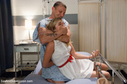 blonde nurse caught horny