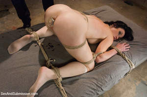 Cute bound tattoo student sucks cock and - XXX Dessert - Picture 6