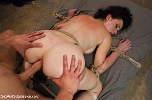 Cute bound tattoo student sucks cock and - XXX Dessert - Picture 8