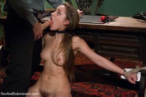 Pretty chick sucks dick and gets bound,  - XXX Dessert - Picture 6
