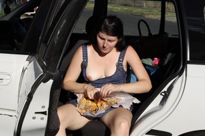Hungry naughty lady enjoys fish and chip - XXX Dessert - Picture 6