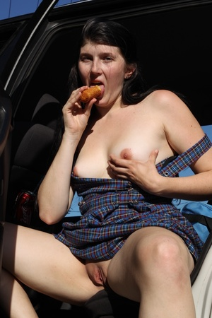 Hungry naughty lady enjoys fish and chip - XXX Dessert - Picture 11