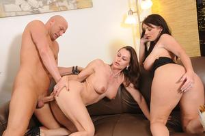 Hot big tits brunette and friend suck an - XXX Dessert - Picture 12
