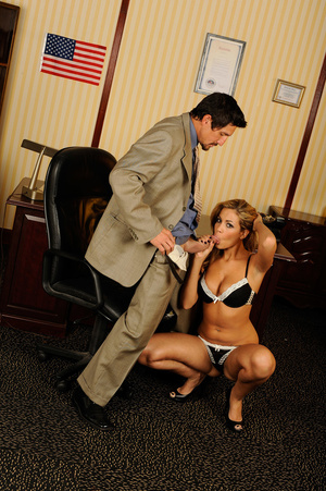 Office romance as sexy chick strips to s - XXX Dessert - Picture 10