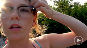 Ginger freckled teeny in glasses adores  - XXX Dessert - Picture 4