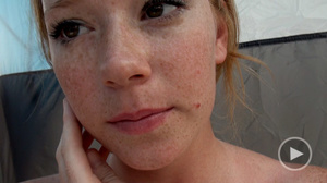 Ginger freckled teeny in glasses adores  - XXX Dessert - Picture 5
