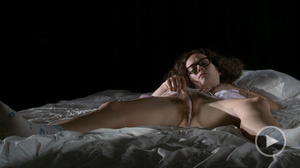 Curly chick in glasses loves pleasing he - XXX Dessert - Picture 1