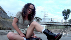 Curly chick in glasses loves pleasing he - XXX Dessert - Picture 7