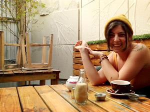 Curvy dark-haired freshie with big boobs - XXX Dessert - Picture 12
