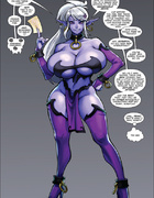Purple fairy with huge boobies gets tortured and banged badly by a horny