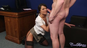 Cute girl fingers herself as she works c - XXX Dessert - Picture 4