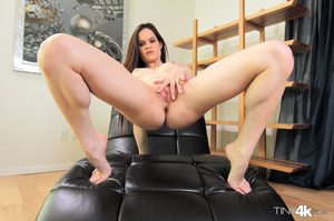Young athletic nude brunette takes big c - XXX Dessert - Picture 7
