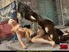 Super Girl sees alien predator fucking black hair girl and joins the fun