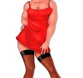 Cute pics of crossdressed Fry from porn comics Futurama with boobilicious
