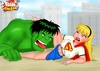 Porn Hulk having fun with Supergirl while Roxanne giving head to Megamind