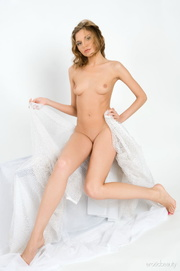 enticing young damsel draped