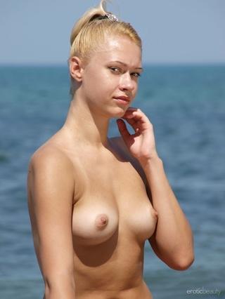 extra slim cute blonde