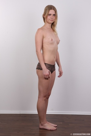 Young pretty blonde strips off white and - XXX Dessert - Picture 10