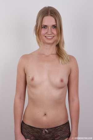Young pretty blonde strips off white and - XXX Dessert - Picture 11