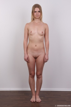 Young pretty blonde strips off white and - XXX Dessert - Picture 14