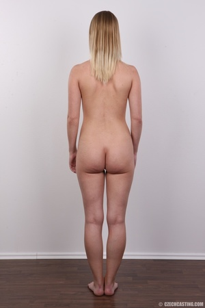 Young pretty blonde strips off white and - XXX Dessert - Picture 16