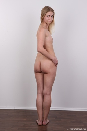 Young pretty blonde strips off white and - XXX Dessert - Picture 17