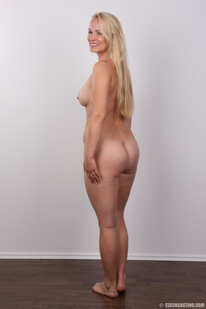 Slim blonde in cute blue dress seduces w - XXX Dessert - Picture 16