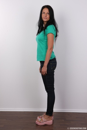 Black haired chick in green top and blac - XXX Dessert - Picture 3