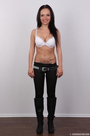 Slim dark hair beauty in white underwear - XXX Dessert - Picture 4