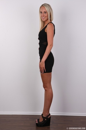 Sexy tall and slim blonde in hot black d - XXX Dessert - Picture 3