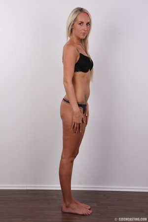 Sexy tall and slim blonde in hot black d - XXX Dessert - Picture 5
