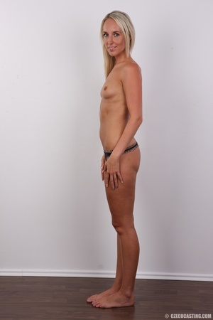 Sexy tall and slim blonde in hot black d - XXX Dessert - Picture 8