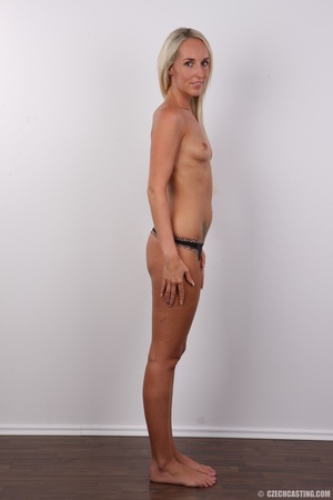Sexy tall and slim blonde in hot black d - XXX Dessert - Picture 9
