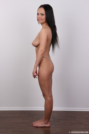 Slim dark hair beauty in white underwear - XXX Dessert - Picture 15