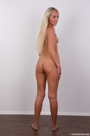 Sexy tall and slim blonde in hot black d - XXX Dessert - Picture 17