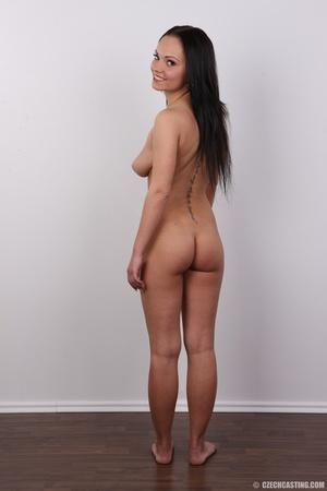 Slim dark hair beauty in white underwear - XXX Dessert - Picture 17