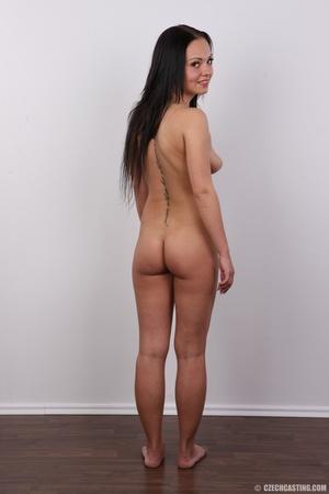 Slim dark hair beauty in white underwear - XXX Dessert - Picture 18