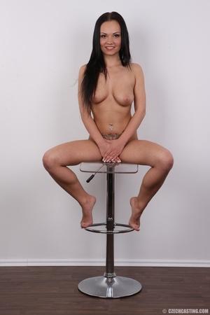 Slim dark hair beauty in white underwear - XXX Dessert - Picture 20
