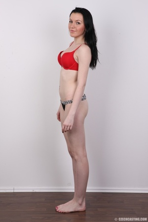 Smiling black hair beauty in hot red bra - XXX Dessert - Picture 8