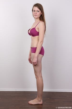 Young and hot brunette in pink underwear - XXX Dessert - Picture 8
