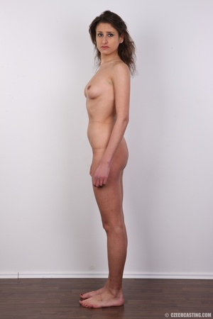 Hot tempting chick in black strips nude  - XXX Dessert - Picture 15