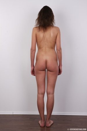 Hot tempting chick in black strips nude  - XXX Dessert - Picture 16